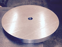 round machined counterweight