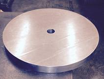 round machined counterweight