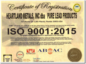 ISO 2015 Certification