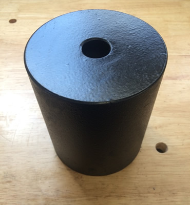 Painted Lead Cylinder