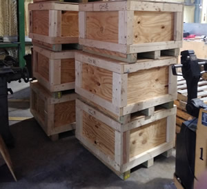 stacked crates ready to ship